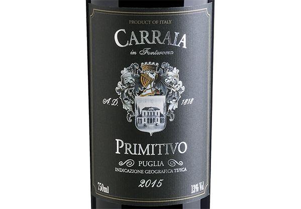 Carraia in Fonteroma Primitivo di Puglia 2015